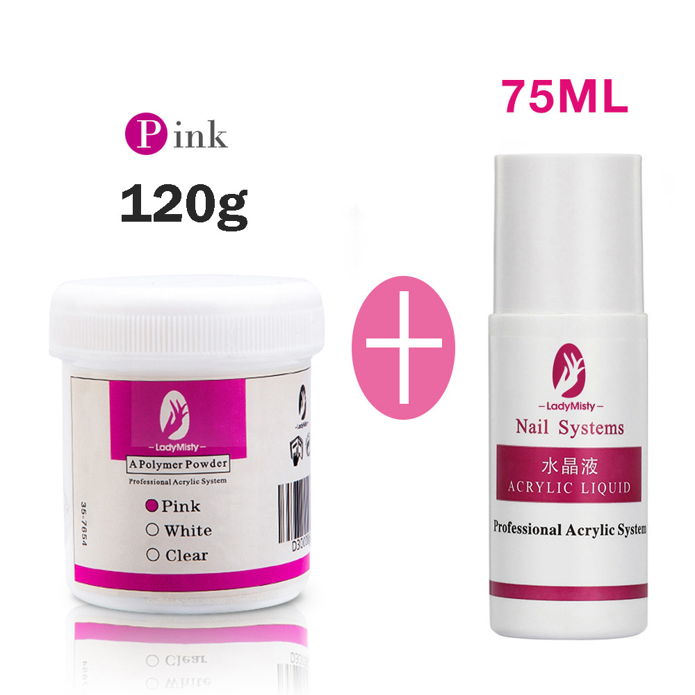 120ml Acrylic Powder Clear Pink White Carving Crystal Polymer 3D Nail Art Crystal Powders Builder Gel Tips Builder for Nails 15