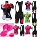 Лето 2019, teleyi, Женский комплект Джерси для велоспорта, MTB, дорожный, велосипедная одежда, дышащая одежда для горного велосипеда, Быстросохнущи...