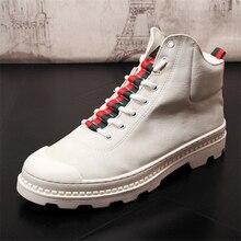 цена на Men Casual Shoes Leather Shoes Men Spring Autumn Fashion Men Boots Fashion Casual Leather Boots Genuine Leather Men Shoes