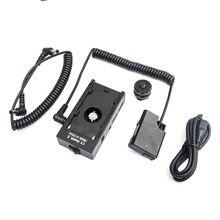 Plaque de montage sur batterie alimentation + EN-EL14 EL14A EP-5A Kit de batterie factice pour Sony F770 F970 et Nikon D5600 D5500 D5300 appareil photo