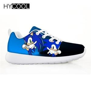 Image 2 - HYCOOL enfants chaussures pour enfants garçons Sonic le hérisson baskets plates Sports de plein air chaussures de course Chaussure Enfant Garcon Fille