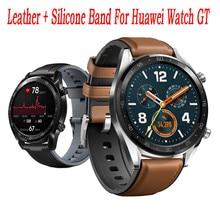 Reloj inteligente de cuero de repuesto + correa de reloj de silicona para Huawei Watch GT fashion 2020 gran oferta