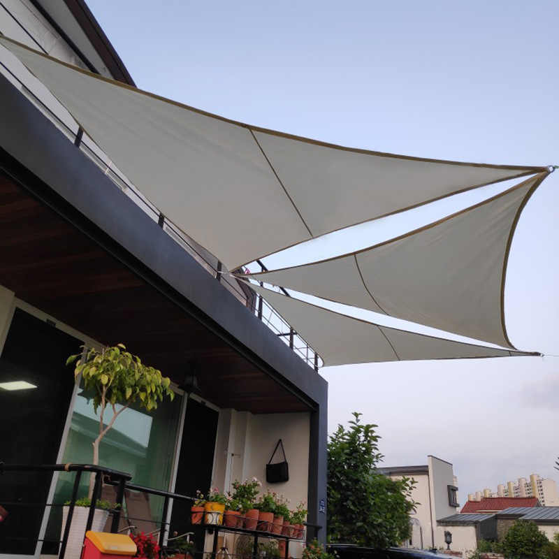 waterproof sun shelter triangle sunshade protection outdoor canopy garden patio pool sail awning camping shade cloth large blue