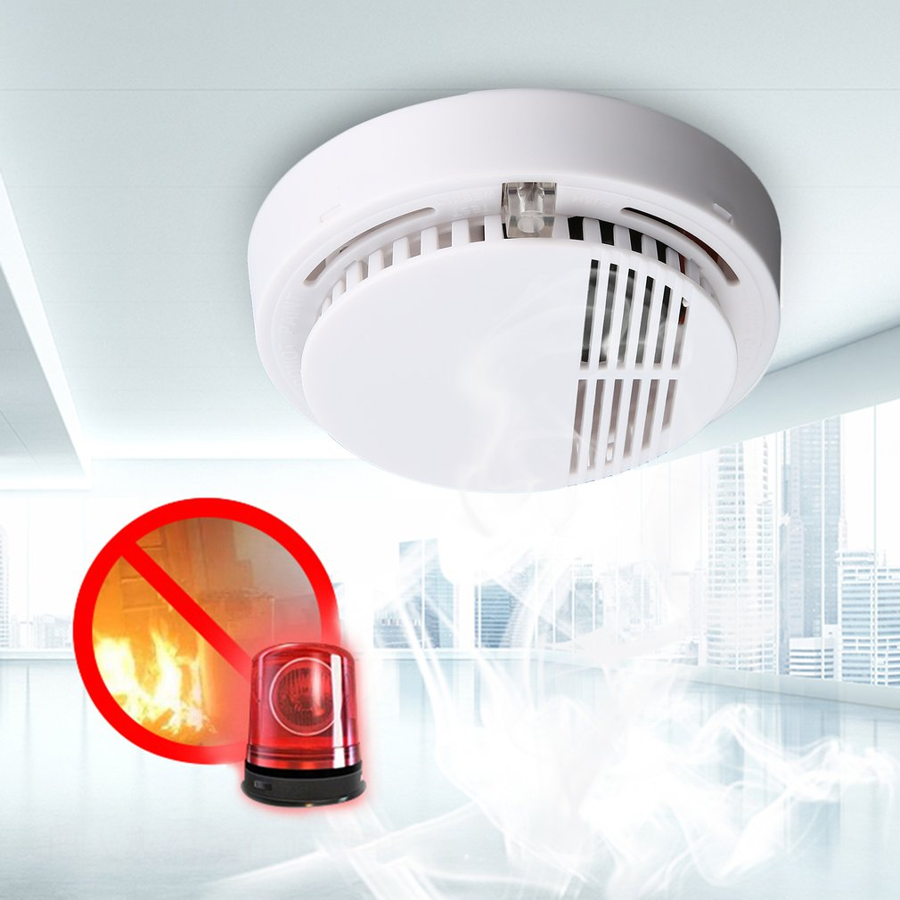 Smoke-Detector for Home Office Security Photoelectric 85db Independent