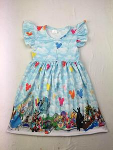 Image 2 - 뜨거운 판매 여름 여자 패션 드레스 블루 플러터 슬리브 농장 인쇄 사랑 드레스