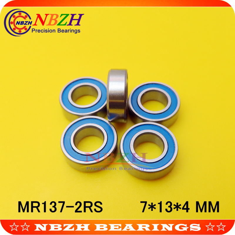 7x11x3 mm Rubber Sealed Ball Bearings Bearing MR117RS BLACK MR117-2RS 5 Pcs