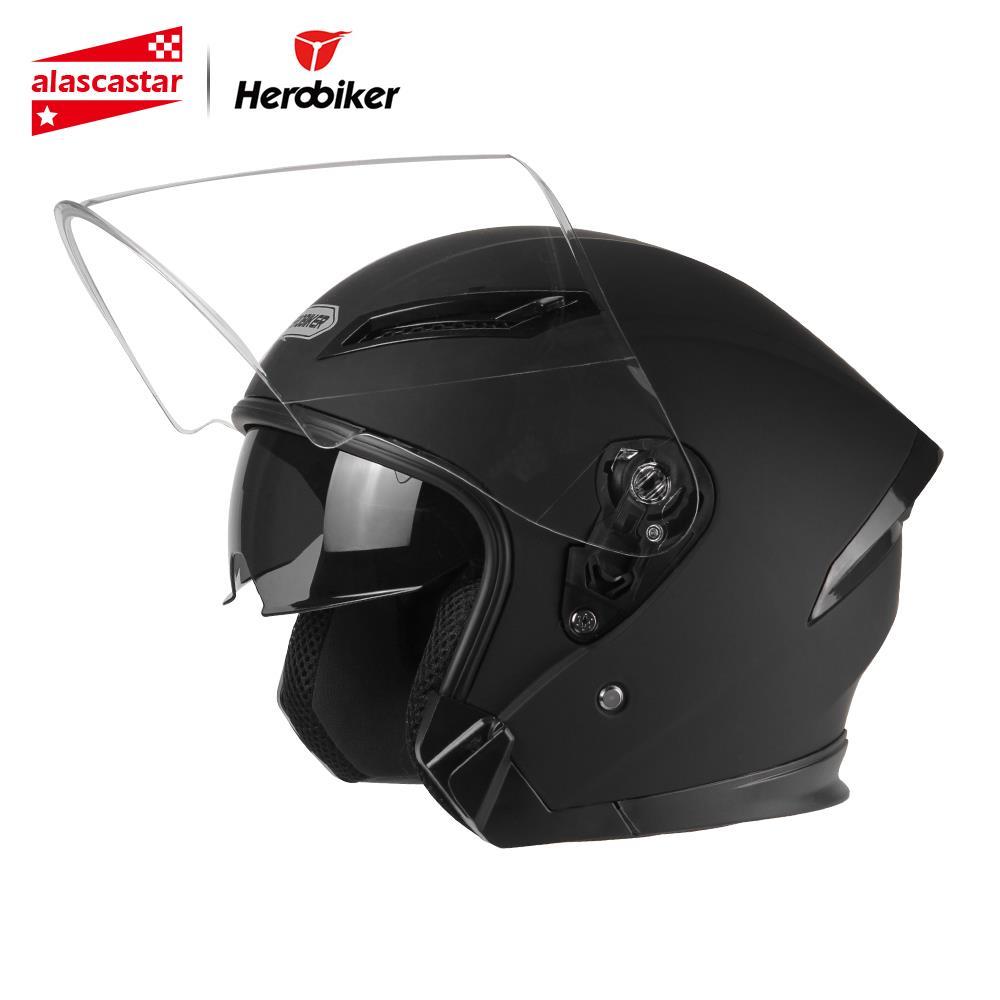 HEROBIKER Motorcycle Helmet Men Motorbike Motocross Casco Moto Helmet For Motorcycle Racing Half Face Helmet
