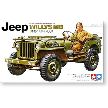 Tamiya 35219 1/35 Scale US Ton 4x4 Truck Willys MB Vehicle Display Collectible Toy Plastic Assembly Building Model Kit