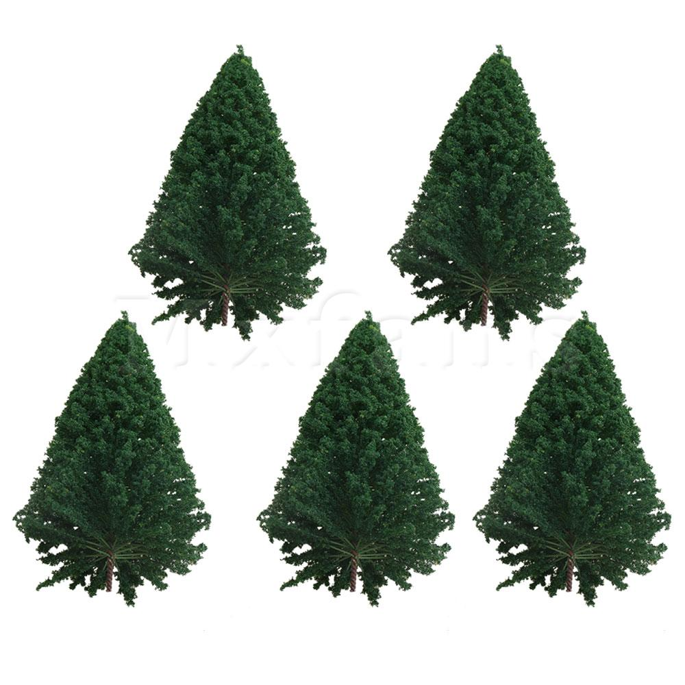 Mxfans 5x BA01-311 120mm Model Miniature Sandbox Architecture Plastic Pine Trees