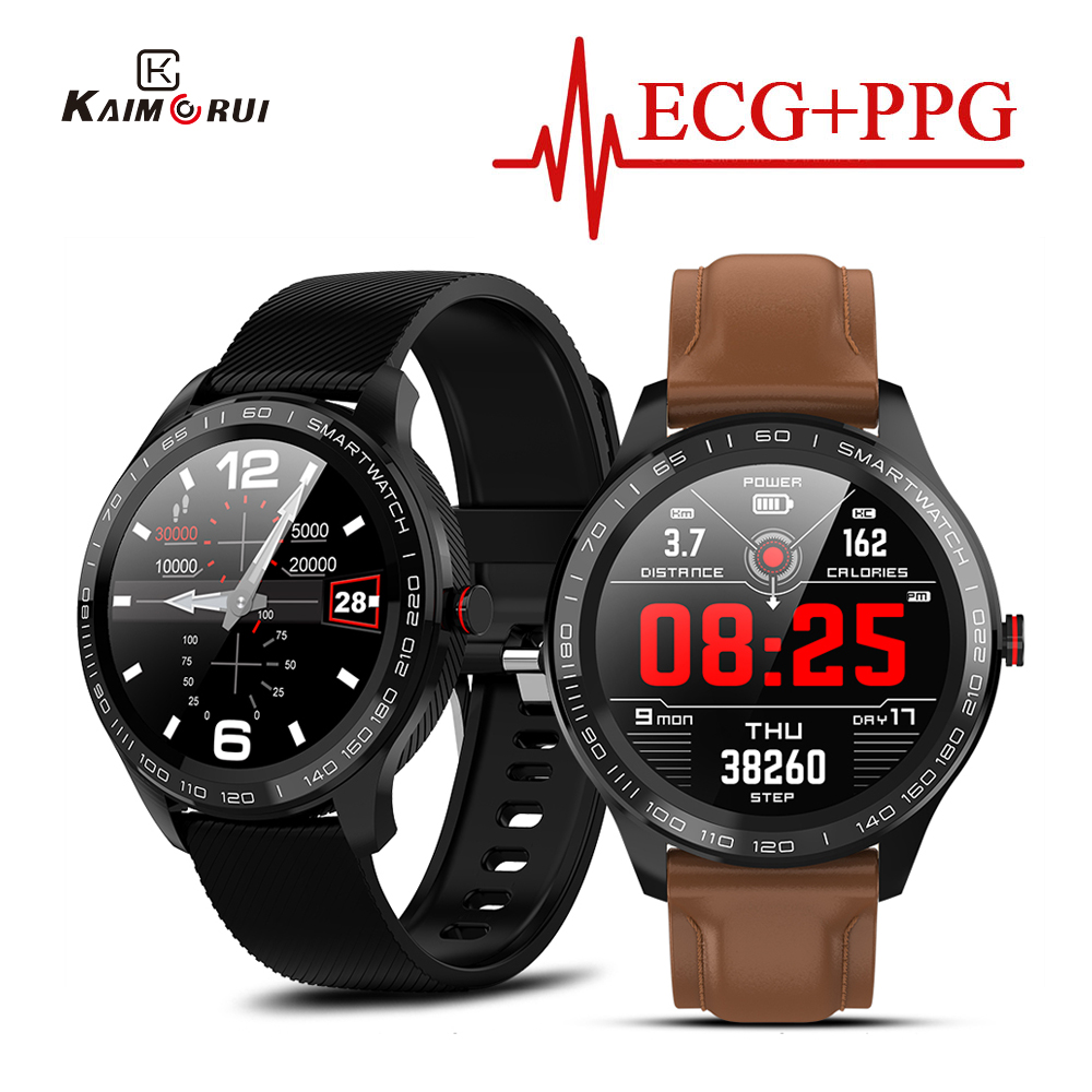 L9 Smart Watch Men ECG PPG IP68 Waterproof Full Touch Heart Rate Blood Pressure oxygen Monitor Bluetooth <font><b>Smartwatch</b></font> PK L5 <font><b>L7</b></font> L8 image