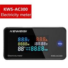 Medidor da eletricidade do wattmeter da c.a. do diodo emissor de luz 50-KWS-AC300 v com função 0-100a da restauração 300 medidor da energia do amperímetro kws da potência
