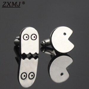 ZXMJ Pac-Man and the Ghostly Adventures запонки металлические кнопки шпильки для манжет рубашка запонки для мужчин Женская Модная бижутерия