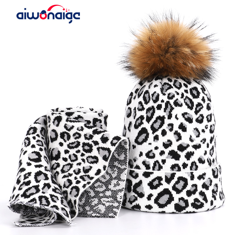 2019 Ms. Raccoon Fur Hat Scarf Thicken Winter Hat Pompon Head Cap Bib Set Headscarf Hat Alpine Skiing Warm Woman Peas Mask