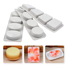 Soap-Craft Silicone for DIY Mixed Round Rectangle Oval-Shapes Easy-Demold Pudding Ice-Cube-Tray