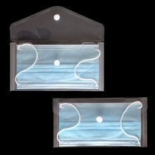 1 pçs anti poeira máscara protetora caso portátil pvc capa saco caixa de armazenamento máscara protetora descartável titular mascarillas organizador