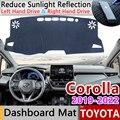 Per Toyota Corolla E210 210 2019 2020 Tappetini anti scivolo Cruscotto Rilievo Copertura Parasole Dash Zerbino Proteggere Tappeto Accessori Auto Anti-Uv