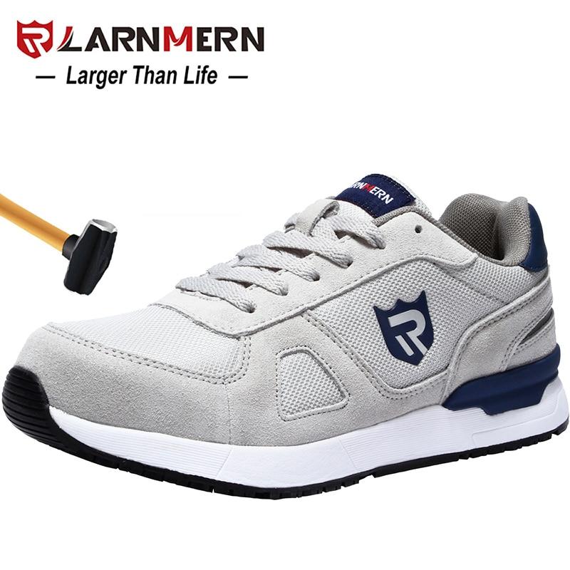 Safety-Shoes Sneaker Work Toe-Construction Lightweight Non-Slip LARNMERN Steel Anti-Smashing