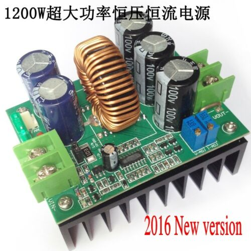 1200W 20A CC/CV Boost Converter DC 8V-60V To 12V-80V Step-up Power Supply Module