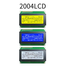 Lcd2004 2004 20x4 2004a azul/amarelo verde/branco tela splc780d personagem lcd iic i2c serial interface adaptador módulo aip31066