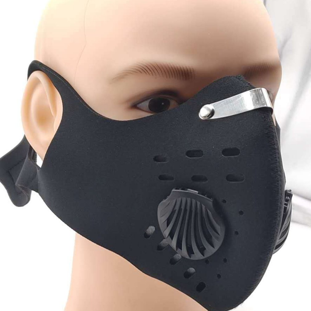 Anti-Fog And Activated Carbon Mask Dustproof Windproof Warm Bicycle Mask Mountain Bike With Air Valve Riding Mask For Cycling