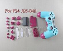 ل PS4 برو 4.0 JDM 040 JDS040 تحكم مجموعة كاملة الإسكان غطاء شل استبدال الجلد لسوني بلاي ستيشن 4 برو 4.0