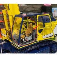 Hydraulic Excavator RC Model Excavators Interior 1/12 1/14 Simulation Seat Cab Caterpillar Excavator Interior