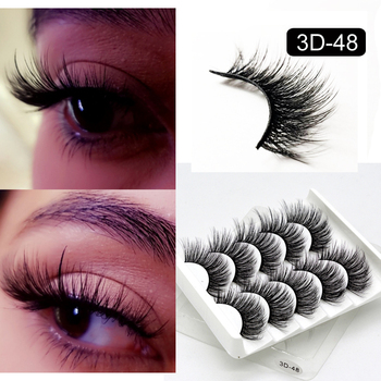 5 Packs False Eyelashes Extension Faux Cils 3D Mink Lashes Long Thick 15mm Natural Eye Lash Makeup Tools Wispy Lashes Wholesale