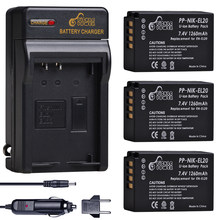 Batterie 1260mAh EN EL20 EN EL20a + chargeur mural pour Nikon Coolpix P1000 Nikon1 J1, J2, J3 Nikon1 AW1, EN-EL20