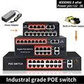 48 В POE коммутатор со стандартизированным портом RJ45 IEEE 802 3 af/at 4 порта/8 портов сетевой коммутатор Ethernet с 10/100 Мбит/с для POE камер