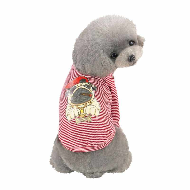 Huisdier Lente Zomer Hip Hop Vest Kostuum Mooie Eend Afdrukken Hondenkleding Grappige Kleding Huisdier Hond Kleding