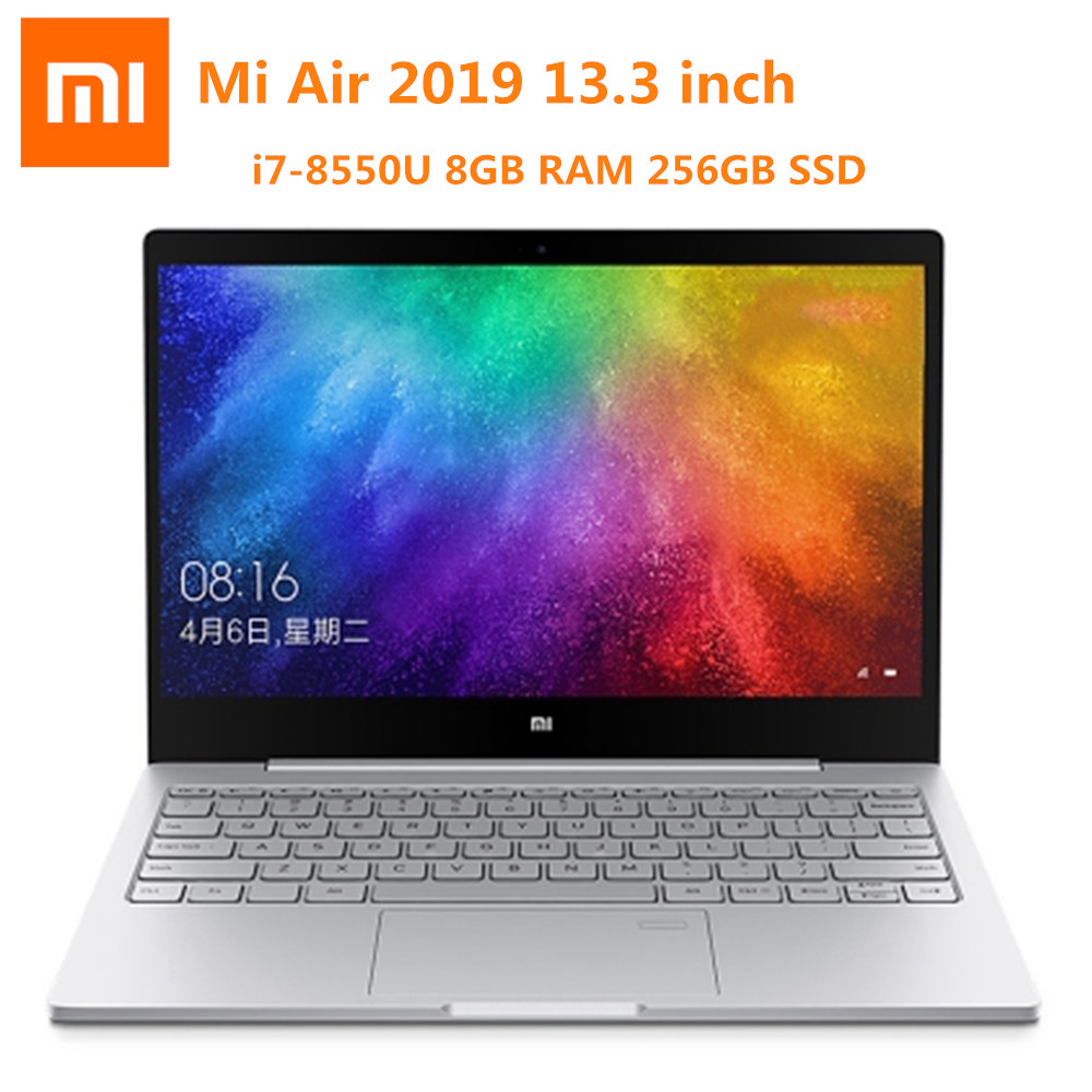 Xiaomi Mi Air 2019 13.3 Inch Laptop Windows 10 OS Intel Core I7-8550U NVIDIA GeForce MX250 8GB RAM 256GB SSD Fingerprint Sensor