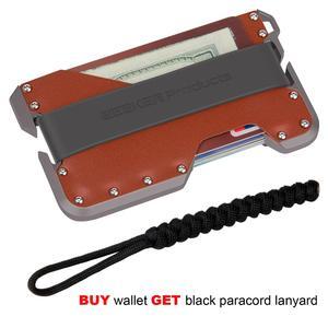 Image 4 - ZEEKER nowa aluminiowa RFID blokowanie posiadacz karty kredytowej prawdziwej skóry minimalistyczny portfel szara metalowa dla mężczyzn i kobiet
