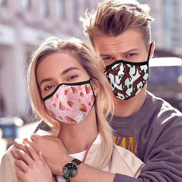 Painted Cotton Mouth Mask Anti Dust Fog Washable Breathable Personalized Mouth-Muffle Bacteria Proof Flu Face Masks Safe Breath