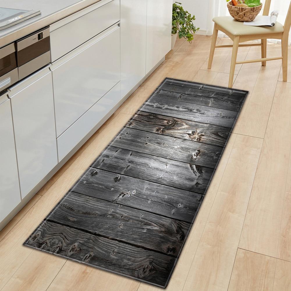Wood Grain Printed Non Slip Floor Mat