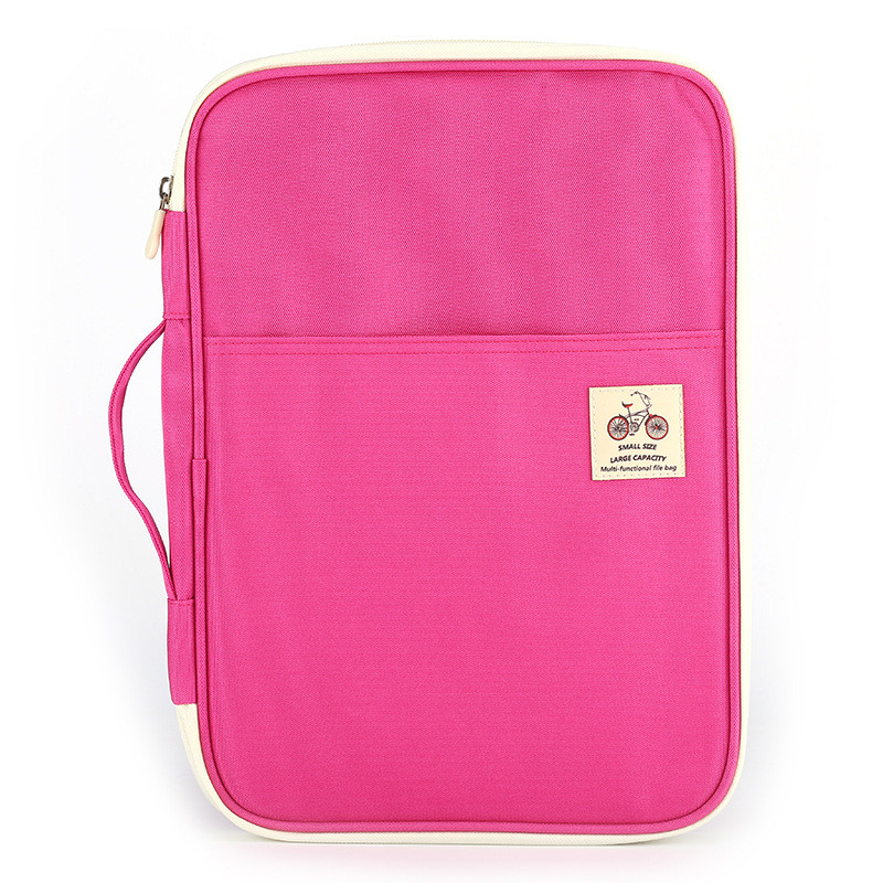 A4 Document Make Up Bag Notebooks Pens Computer Briefcase Multi-functional Filing Products Portable Waterproof Storage Bags