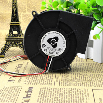 Authentic AVC 9733 F9733b12lg 12v 0.72a3 Line Double Ball Turbine Blower Fan image