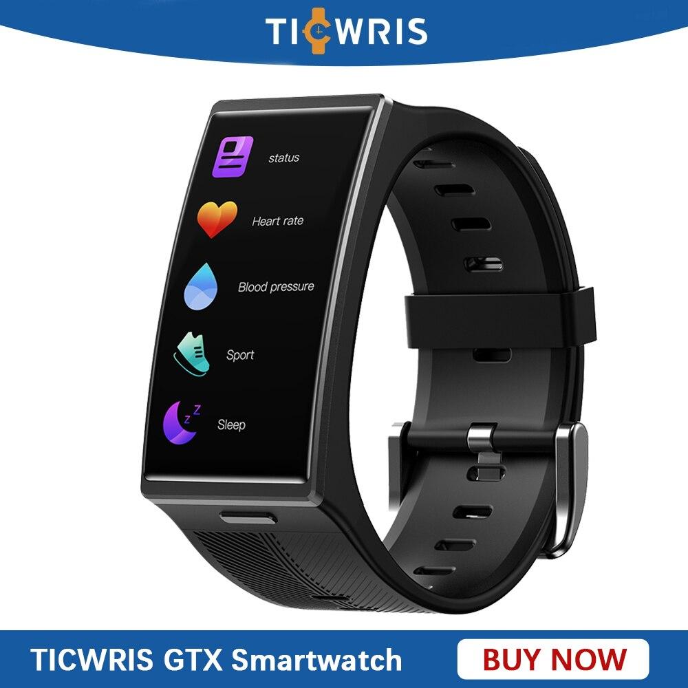Новый TICWRIS GTX Смарт-часы для мужчин IP68 водонепроницаемый спортивный фитнес-трекер Смарт-часы монитор артериального давления для IOS и Android Xiaomi