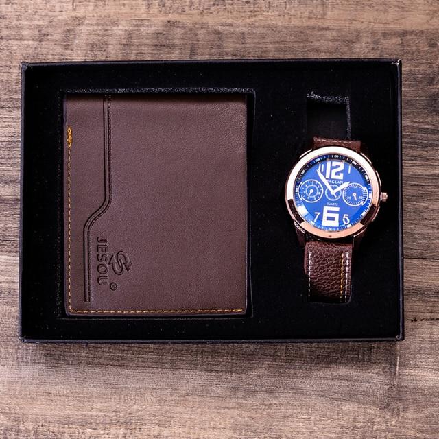Men Watches Leather Belt Quartz Wrist Watch  4
