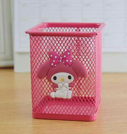 1 Pcs Cute My Melody Stitch Metal Stationery Organizer Storage Box Manage Case Pencil Pen Holders Stand Student School Supply