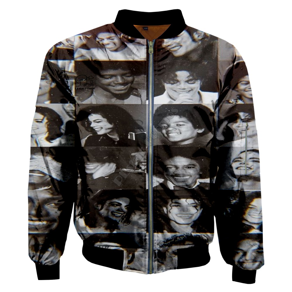 PLstar Cosmos New Fashion Casual 3Dprint Unisex Men/Women King of Pop Michael Jackson Zipper/Bomber Jackets/Hoodies/Hoodie s-3
