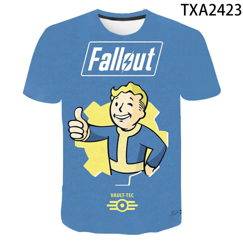 3D printing Fallout men's and women's fashion all-match shirt summer cool and breathable casual children's T-shirt