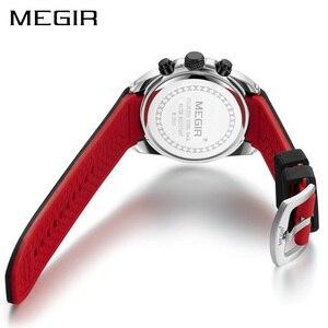 Image 3 - MEGIR Sport Watch Men Blue Silicone Chronograph Quartz Man Watches Clock Luxury Brand Wristwatch Relogio Masculino Reloj Hombre