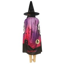 Halloween Hantu Pola Cape Jubah Anak Masquerade Kinerja Jubah Anak Kostum Dress Up 2-Pin Tebal Digital Printing(China)