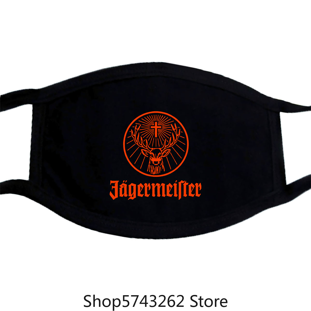 Jagermeister German Logo Men'S Mask S To 3Xl Washable Reusable Mask For Unisex Black