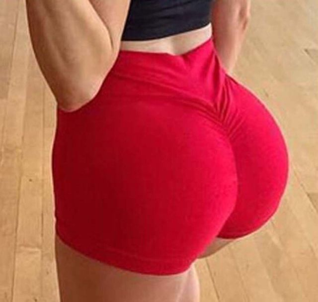 Sexy Women's Sports Shorts Athletic Gym Workout Fitness 2019 sportswear ladies solid shorts 1