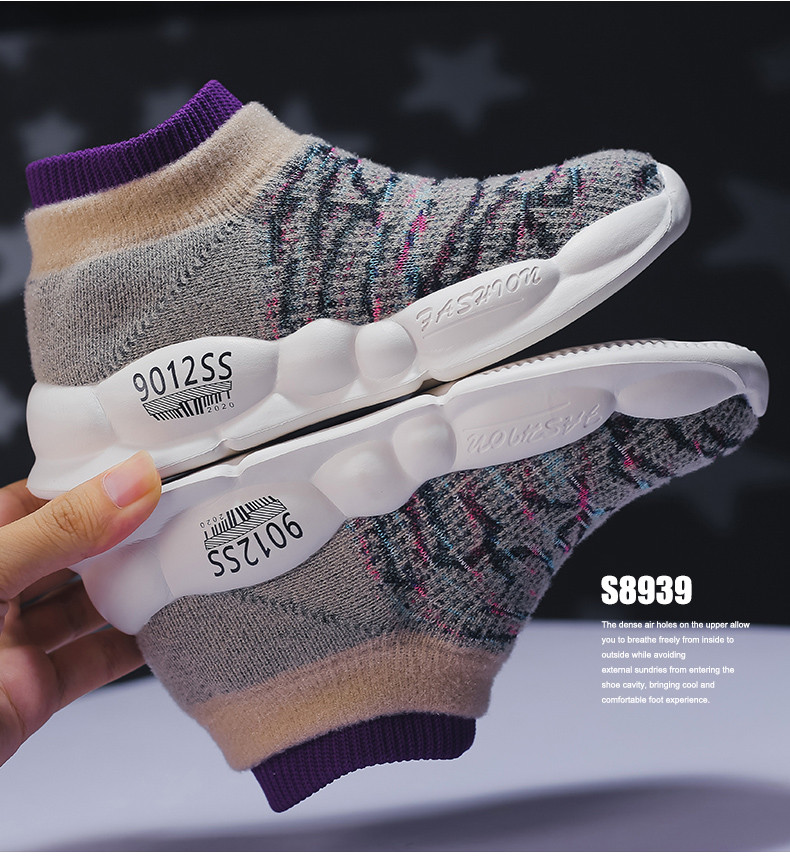 PINSEN 2019 Spring Autumn Children Sneakers Girls Shoes Fashion Kids Shoes Mesh Breathable Child Socks Shoes Boys Casual Shoes (15)