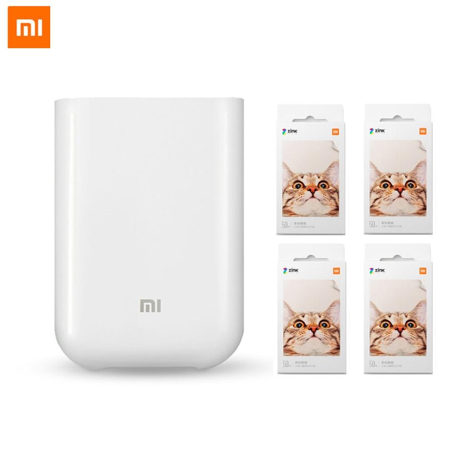 Xiaomi Mijia AR impresora de bolsillo 300dpi portátil viaje Mini impresora de bolsillo para fiesta foto Cámara DIY compartir 500mAh imagen|Impresoras|   - AliExpress