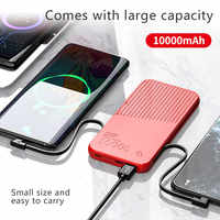 FLOVEME Power Bank 10000mAh External Battery For Xiaomi Powerbank 2 USB 3 Type Free Charging Cable Portable Charger PoverBank