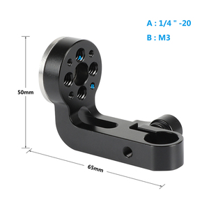 Image 2 - CAMVATE Standard 15mm simple tige pince avec ARRI Rosette M6 femelle filetage adaptateur pour DSLR Cage plate forme bricolage accessoires montage nouveau