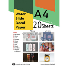Decal-Paper Inkjet-Printer Waterslide Design-Cup Transparent for A4 High-Resolution DIY